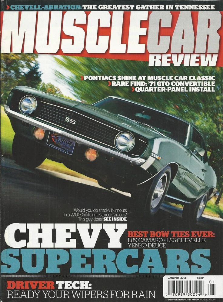 Muscle Car Review magazine Chevy super cars GTO convertible Quarter panel Wipers
