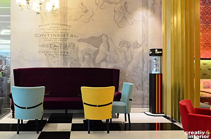 Design Interior cafenea-restaurant LollyPop, Mega Mall Bucuresti