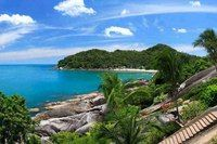 The view from the Cliff restaurant between Chaweng and Lamai, Koh Samui