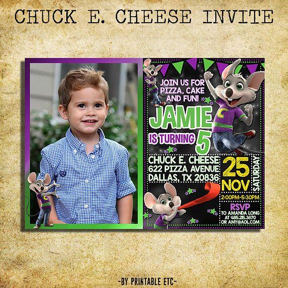 Chuck E Cheese Invitation Chuck E Cheese Chalkboard Birthday