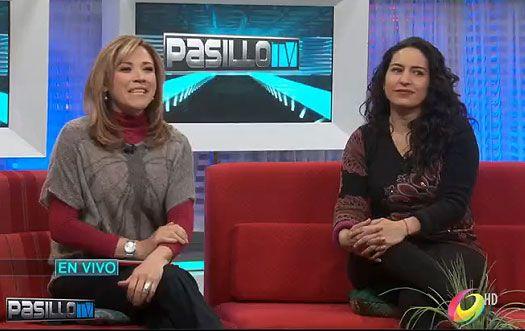 """La actriz visitó Pasillo TV y habló con las conductoras de la emisión vespertina acerca de la película """"El cumple de la abuela"""""""