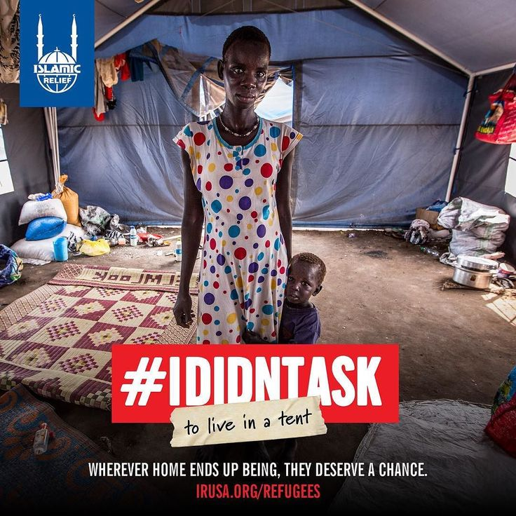 #IDidntAsk to share a tent with 30 people Ngalenne has to share this tent with 30 people in #Mangateen Camp in #SouthSudan. She has 8 children of her own and they all live in one open space with other families. Her family fled from conflict to this...