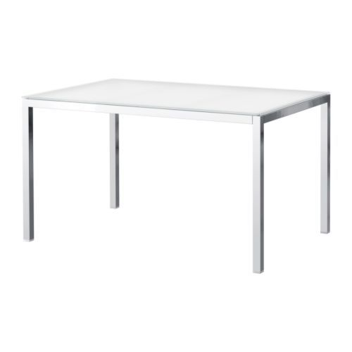 ikea torsby dining table chrome plated glass white 24900 seats 4 - Kitchen Tables Ikea