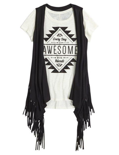 Shop Tee Vest 2fer and other trendy girls fashion tops tops at Justice. Find the cutest girls tops to make a statement today.