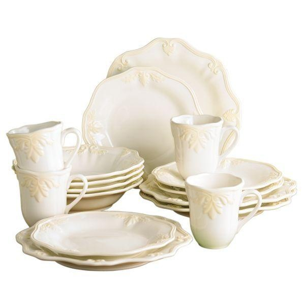 Lenox Butlers Pantry Gourmet 16 Piece Set   A Beautiful Serving Set, The  Lenox Butlers Pantry Gourmet 16 Piece Set Features Gorgeous Scalloped Rims  Which ...