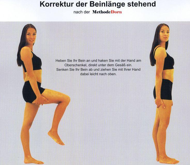Korrektur der Beinlängen stehend nach der Methode Dorn