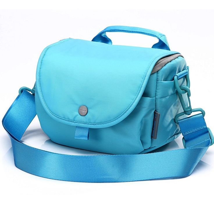 Amazon.com : NEPPT Canon camera bag dslr waterproof photographic camera case purse for EOS rebel t5/SL1(100D)/450D Sony a5000/A6000 (Small Size, outside light Blue, lining Rose) : Camera Cases : Camera & Photo