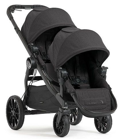 New for 2017! | Baby Jogger City Select LUX Double Stroller - Granite | Free shipping and no sales tax from Strolleria.com