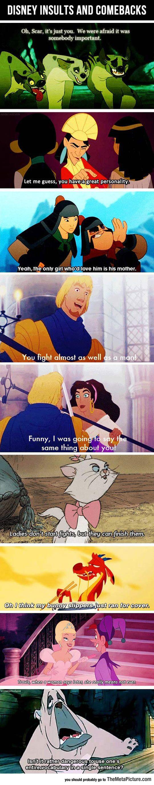 Best And Wittiest Disney Comebacks