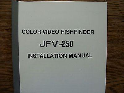 JRC Japan Radio Co Soft Cover  JFV-250 Installation Manual Color Fish Finder