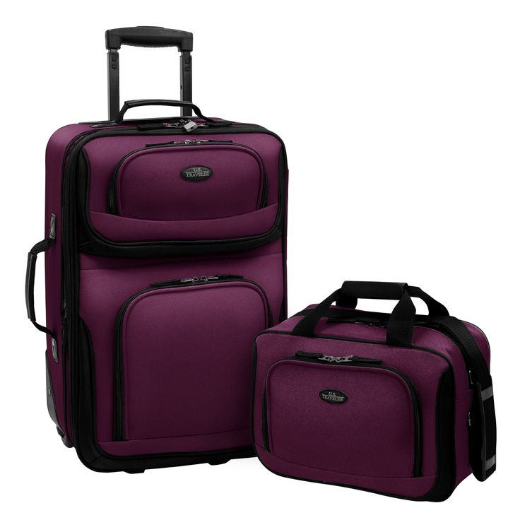 U.S. Traveler by Traveler's Choice RIO 2-piece Expandable Carry-on Luggage Set - Overstock Shopping - Great Deals on US Traveler Two-piece Sets
