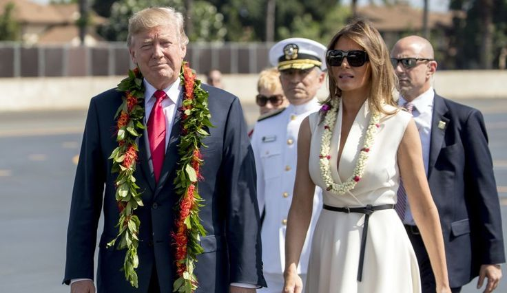 """Donald Trump received a bit of karma on his first trip to Hawaii as president, with protesters greeting the president with mocking signs that read, """"Welcome to Kenya."""" As many in the ..."""