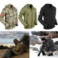 Wish | Emei Men's Outdoor Hunting Camping Waterproof Coats Jacket Army Coat Outerwear Hoodie