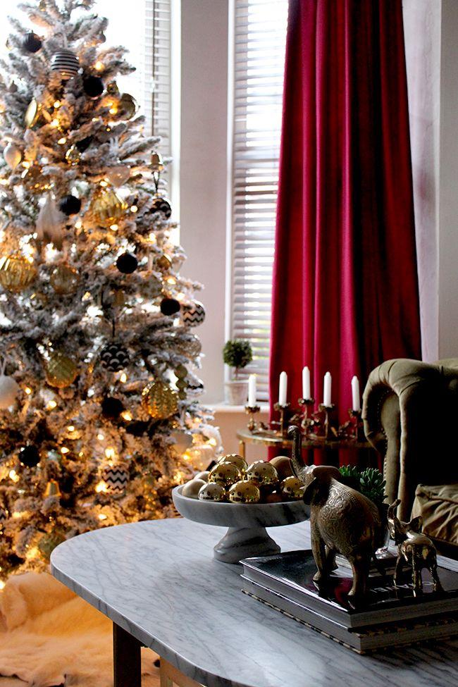 Blogger Stylinu0027 Home Tours My Christmas Living