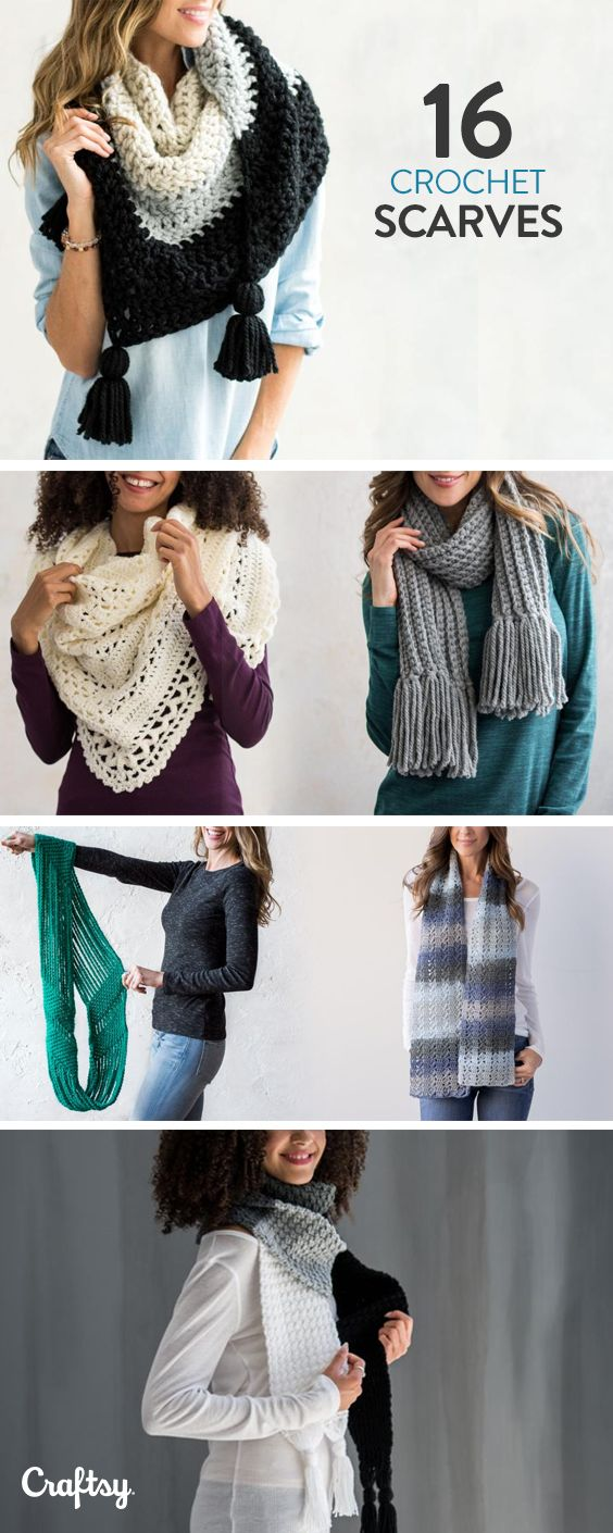 Explore crochet scarf projects, yarns, videos and more!