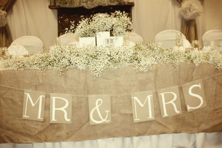 Rustic, Vintage Wedding....Head Table