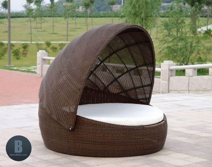 Outdoor Daybed With Canopy Canada Outdoor daybed, Wicker