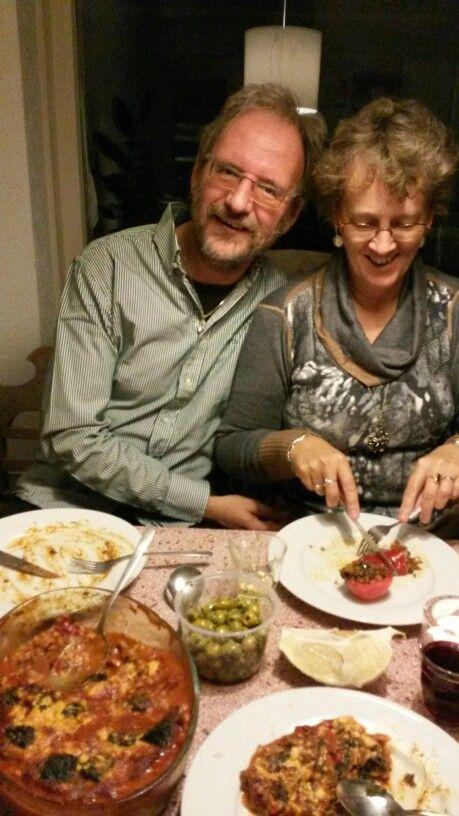 Annette en Henk  komen eten,