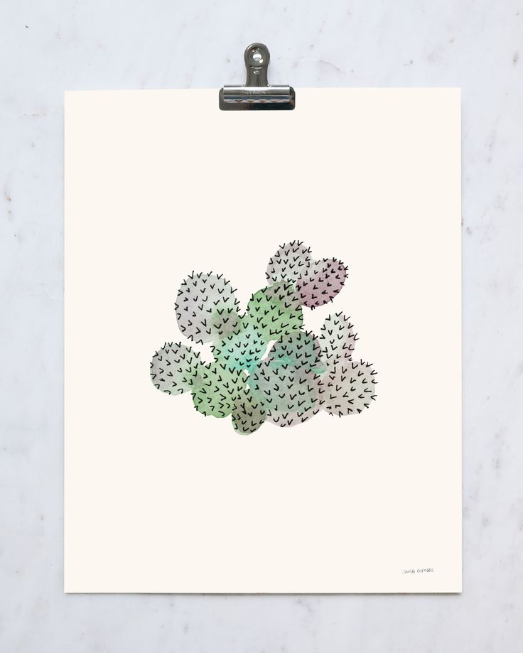 """This is an 11"""" x 14"""" print on cold-pressed paper. Each print is individually signed by the artist, Sara Combs."""