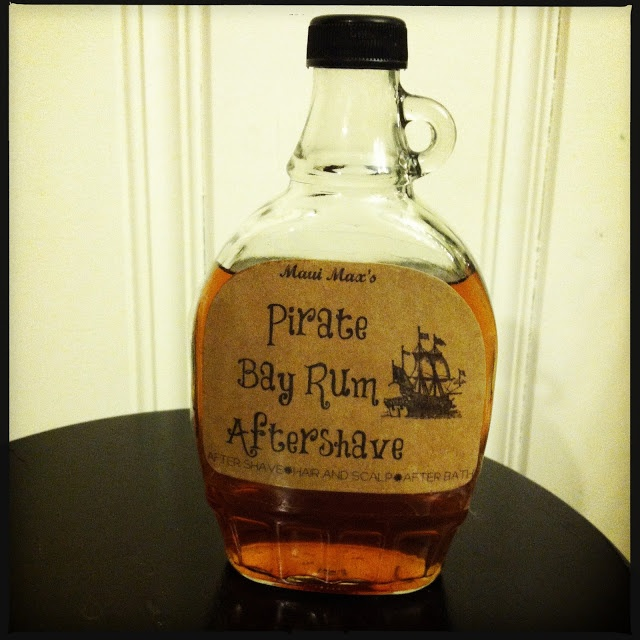 DIY Bay Rum Aftershave Recipe...I love the label she made for her dad!
