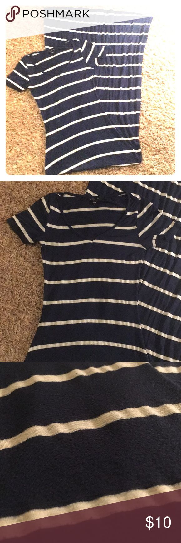 Maxi Dress Navy and oatmeal stripe maxi dress. Super soft cotton. EUC. No flaws. Bought at Von Maur. Soprano Dresses Maxi