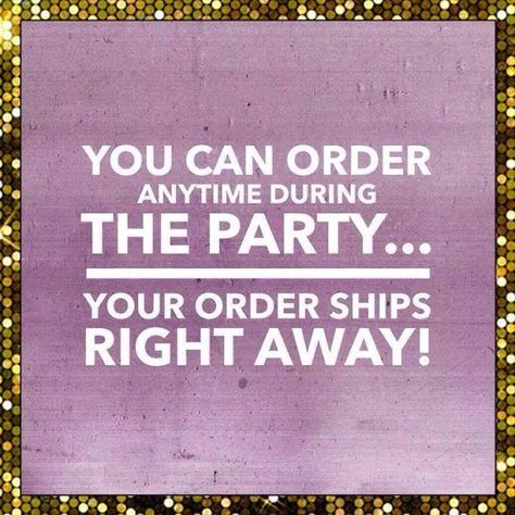 You can order at any time during the party, and your order will ship to you right away! Expect beautiful new jewelry at your doorstep within 3-5 days :)