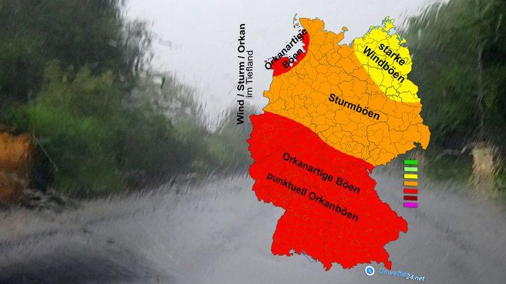 """Seit einigen Tagen ist von einem Orkantief am 03. Januar 2018 die Rede. Heute lässt sich die Zugbahn und Intensität, sowie sämtliche Erscheinungen recht genau vorhersagen. Orkantief """"Burglind"""" wird von der Nacht zum Mittwoch bis Mittwochabend verbreitet Sturmböen bringen; Unwettergefahr besteht in großen Teilen der Südwesthälfte.  #Unwetter #Stark #Orkan #Regen #Graupel #Hagel #Schauer #Starkregen #Wetter #Burglind"""