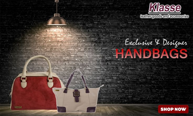 Looking for handbags for women online? Buy tote bags, sling bags, shoulder bags, shopper bags  and other trendy ladies #handbags online at www.klasseleather.in & Get upto 70% OFF.