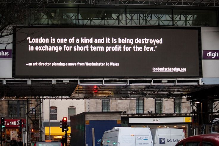 These billboards tell the stories of London's housing crisis