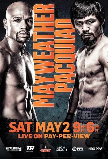 Floyd Mayweather Jr vs. Manny Pacquiao May 2 2015 Promo poster Metal Sign Wall Art 8in x 12in