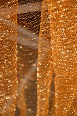 "Metallic Tulle Netting Antique Gold 32"" x 3 yards"
