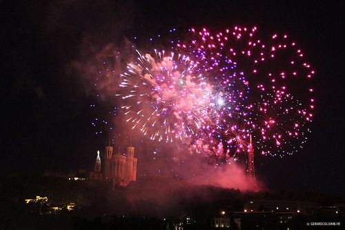 bastille day in lyon france