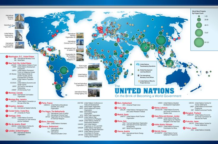 """United Nations Map: The One World Government...what an ignorant stance to take. Hitler also wanted all governments consolidated in the name of """"peace,"""" when in reality it made it easier for him to grab power. Just as it will for an evil-doer to get control of the world under a One-world government. (click for article)."""