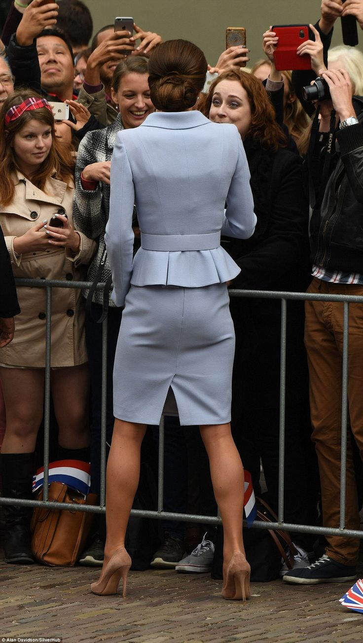 Th down-to-earth Duchess interacts with members of the public during her first