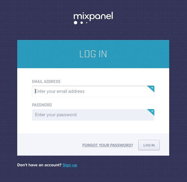 Login Form from Mixpanel › PatternTap