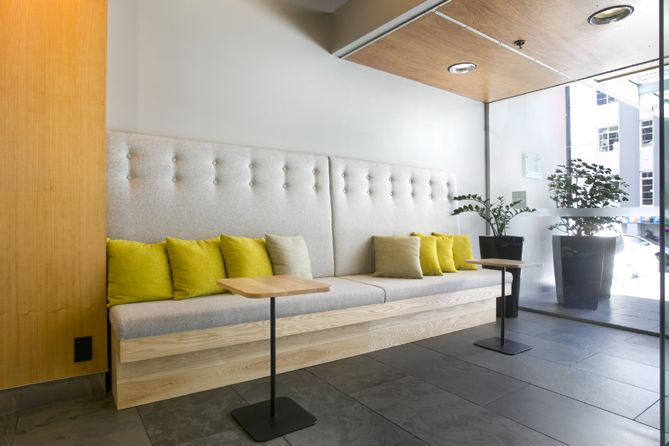 Wellington Novotel | We were briefed to modernize the reception area of the Wellington Novotel hotel.