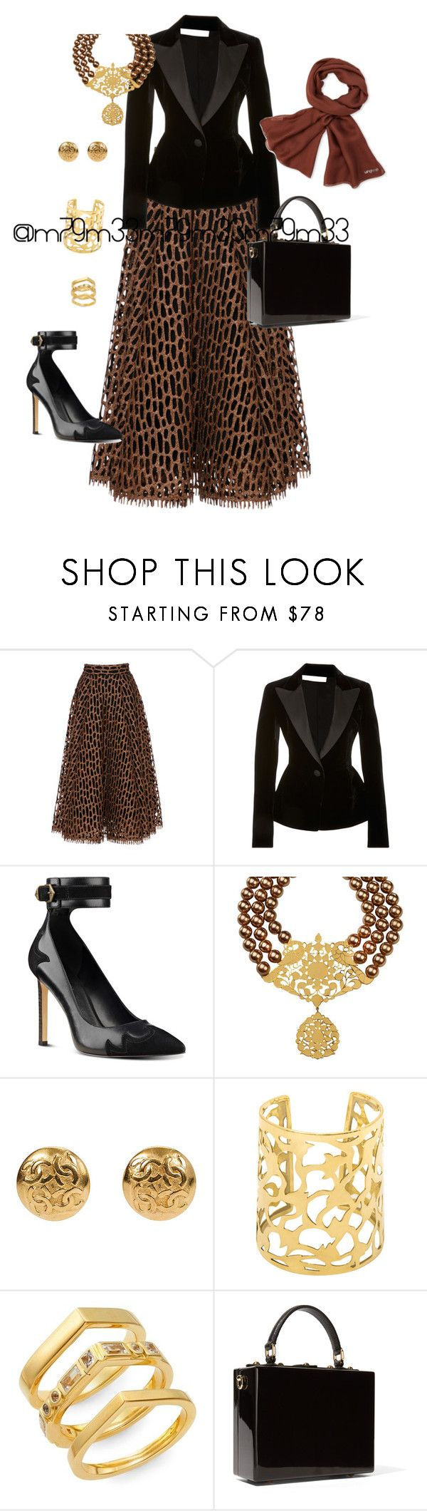 """""""Untitled #461"""" by m79m33 ❤ liked on Polyvore featuring Christian Siriano, Oscar de la Renta, Nine West, Elizabeth and James, Dolce&Gabbana and Emanuel Ungaro"""