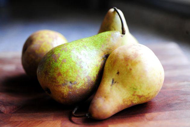 Pear-Cinnamon Crisp with Vanilla Ice Cream   Recipe