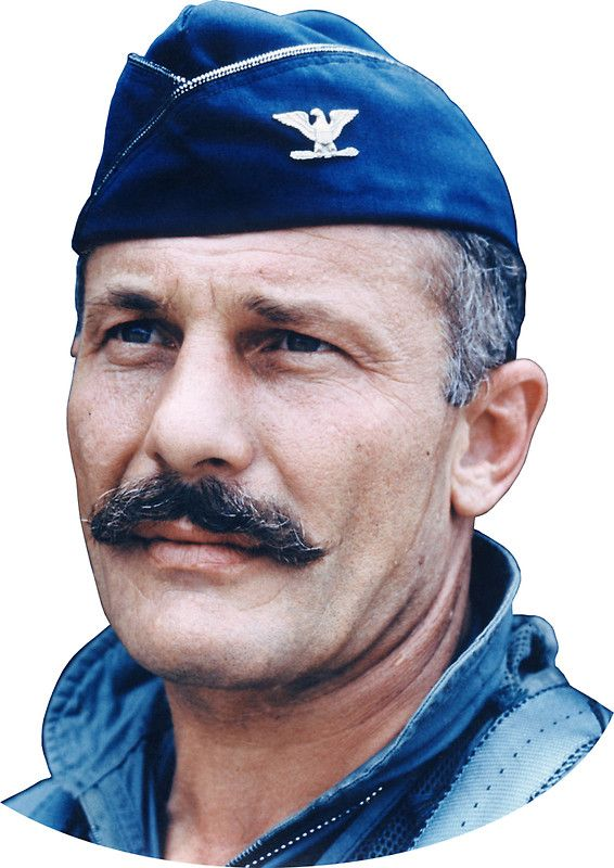 Colonel Robin Olds - This vintage American History photo features fighter pilot Robin Olds. Celebrate aviation history with this digitally restored vintage poster from The War Is Hell Store.