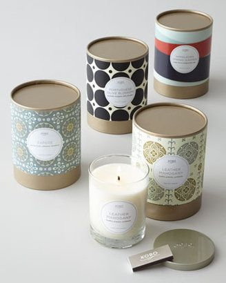 Simple packaging for soy candles using a paper tube and craft papers - loving…
