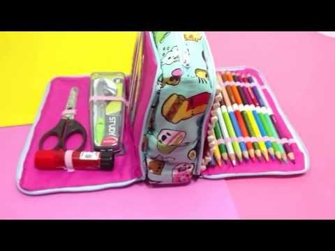 ESTUCHE O CARTUCHERA DIY ❤ - YouTube