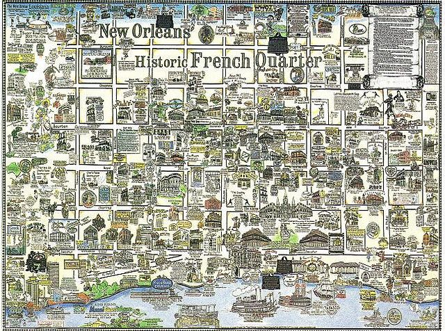 Best French Quarter Map Ideas On Pinterest The French Nola - New orleans in usa map