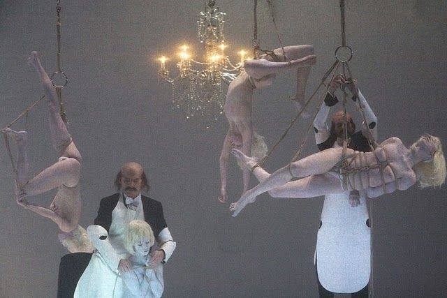 Scene from Act II, Parsifal directed by Romeo Castellucci, performed at La Monnaie, Brussels, 2011