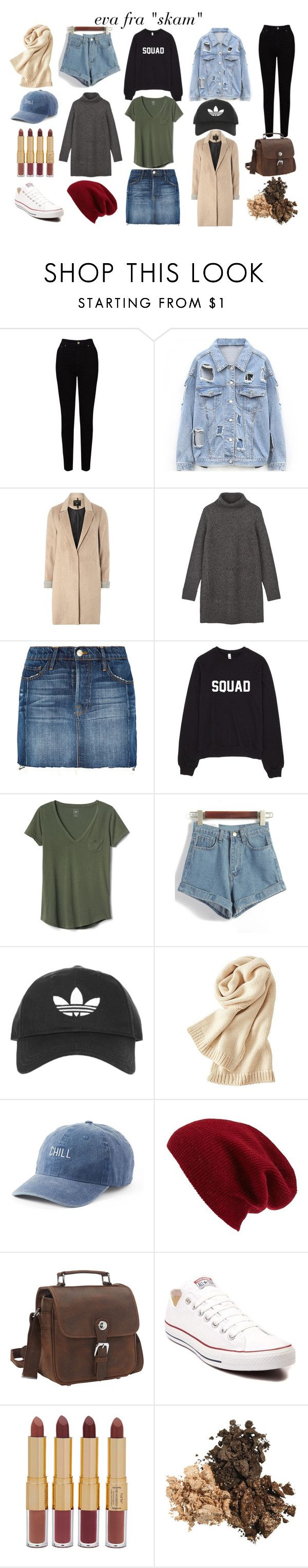 """eva from ""skam"""" by nanna-grubert-1 on Polyvore featuring EAST, mel, Frame, Gap, Topshop, Uniqlo, SO, Halogen, Vagabond Traveler and Converse"