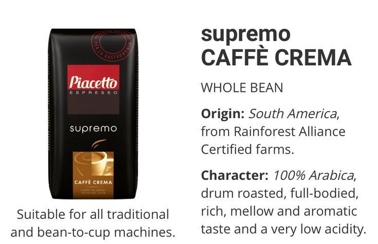 Piacetto supremacy Caffe Crema www.solino.gr