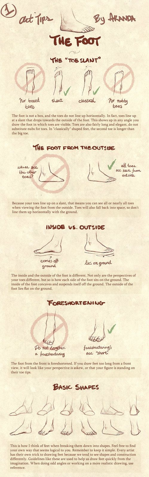 Art Tips - The Foot by =ArandaDill