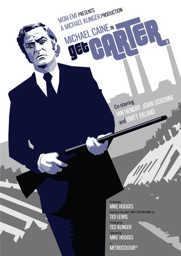 Get Carter (1971) - Michael Caine starring as gangster Jack Carter who backs to his native Newcastle upon Tyne to settle some scores #GangsterMovie #GangsterFlick