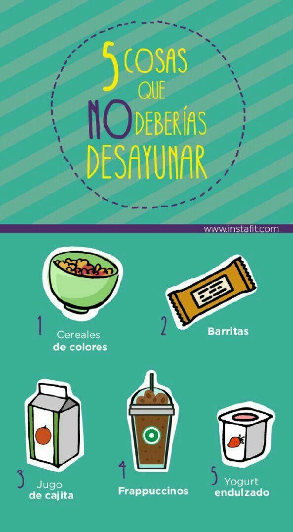 Estas son las 5 cosas que NO deberías desayunar.