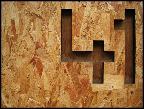 Numbers routed into osb board