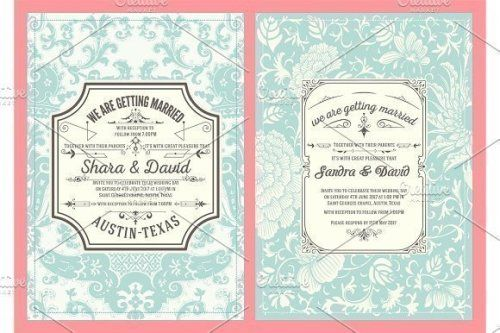 designeour:    Wedding cards set by OneVectorStock>> Go to...